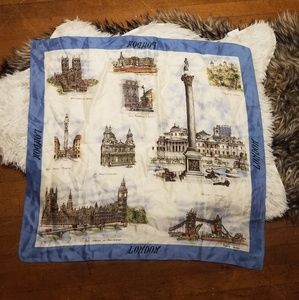 London Tourist landmark large silky scarf